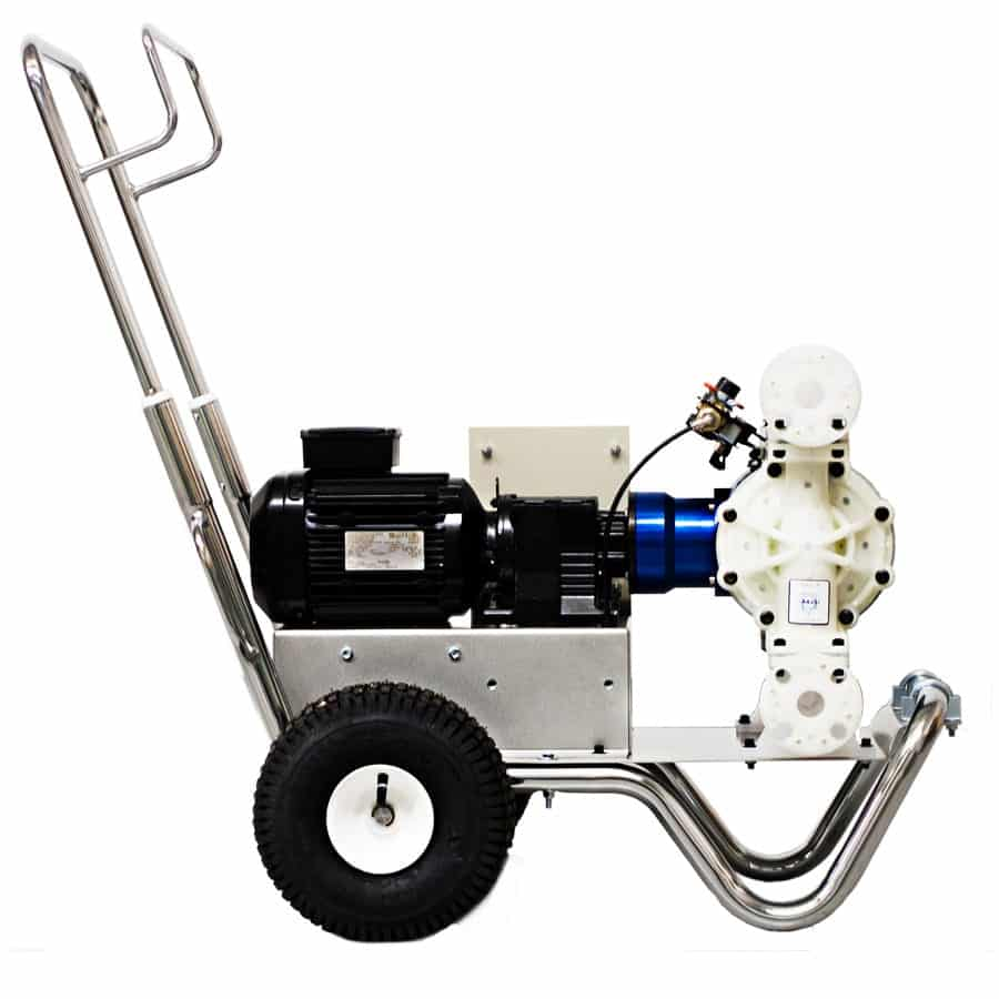 Mobile electronic air operated diaphragm pump by CDR Pumps (UK) Ltd
