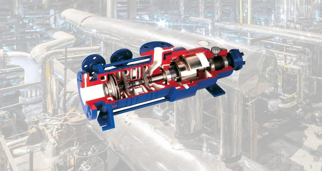 Mechanically sealed process pumps