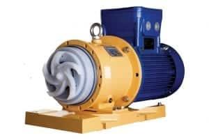 PFA Lined solids handling mag drive pump by CDR Pumps (UK) Ltd